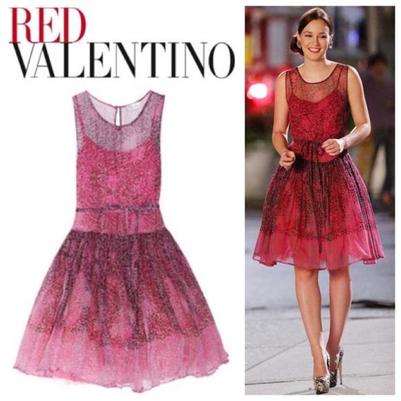 RED Valentino Animal Print Silk Chiffon Dress. M 5ac62e7e9a9455bc51c2afd5 c3dcc5638